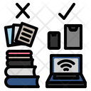 Paperless Book Laptop Icon