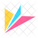 Icon Paperplane Abstract Primitive Icon