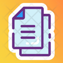 Papers File Document Icon