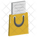 Papers In Tote Bag Icon