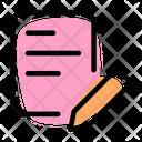 Paperwork Write Handwrite Icon