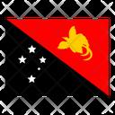 Papua New Guinea Flag Flags Icon