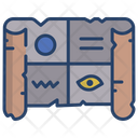 Papyrus Paper Map Map Icon