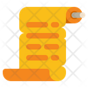 Papyrus Message Scroller Scroller Icon