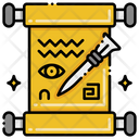 Papyrus And Stylus Papyrus Message Scroller Icon