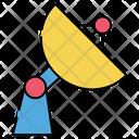 Space Station Satellite Parabolic Antenna Icon