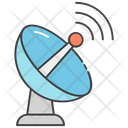 Parabolic Dish Satellite Antenna Radio Telescope Icon