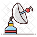 Parabolic Dish Satellite Antenna Icon