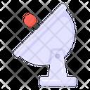 Parabolic Dish Satellite Antenna Parabolic Antenna Icon