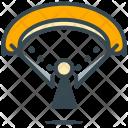 Parachute Person Hiking Icon
