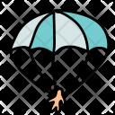 Parachute Man Jump Icon