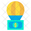 Parachute Dollar Note Investment Icon