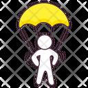 Parachuting Skydiving Free Fall Icon