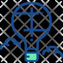 Parachute Balloon Hot Icon