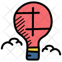 Parachute Balloon Hot Icon