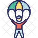Parachute Courage Fly Icon