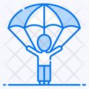 Parachute Paratrooper Air Sports Icon