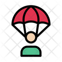 Parachute Soldier Fly Icon