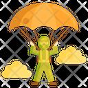 Parachute Paragliding Sky Diving Icon
