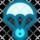 Parachute Space Space Capsule Icon