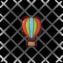 Parachute Air Balloon Summer Icon