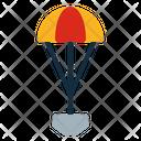 Parachute Rover Robot Icon