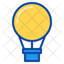 Balloon Air Parachute Hot Fly Wind Aerostat Icon