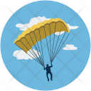 Parachute Fly Hot Icon