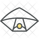 Parachute Gliding Paratrooper Icon