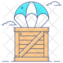 Parachute Delivery Air Delivery Army Parachute Icon