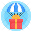 Air Delivery Balloon Delivery Parachute Delivery Icon