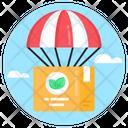 Parachute Freight Icon