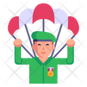 Parachute Landing Icon