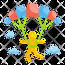 Paragliding Paraglider Parachute Icon