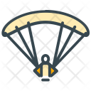 Paragliding Parachute Man Icon