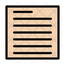 Paragraph Alignment Format Icon