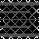 Left Alignment Paragraph Alignment Alignment Symbol Icon