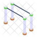 Racing Barrier Impediment Hurdle Bars Icon