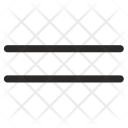 Parallel Lines Geometry Icon