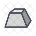 Parallelepiped Trapeze Prism Icon