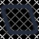 Shape Parallelogram Icon