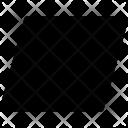 Parallelogram Shape Icon