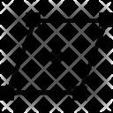 Parallelogram Form Figure Icon