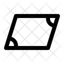 Parallelogram Geometry Math Icon