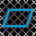 Design Parallelogram Shape Icon
