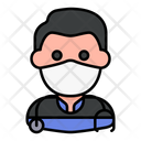 Paramedic Avatar Man Icon