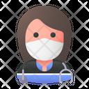 Paramedic Avatar Woman Icon