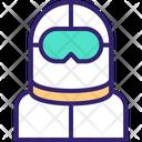 Paramedical Staff Protective Suit Coronavirus Kit Icon