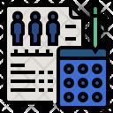 Parameter Statistical Analysis Population Icon