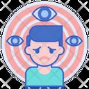 Paranoid Paranoia Fear Icon